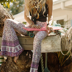 hippie bohemian bell bottom pants