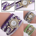Analog Quartz Rhinestone Watch Bracelet