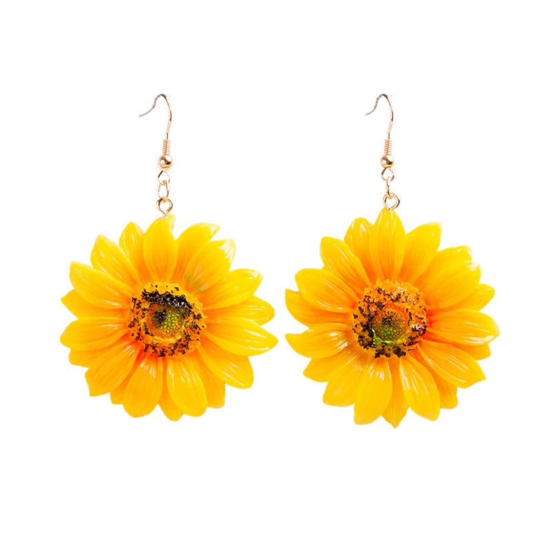 Bohemian Sunflower Earrings