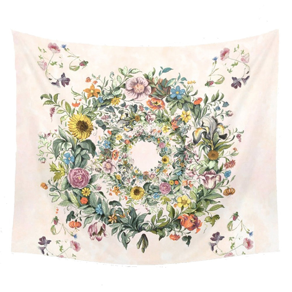 Hippie Floral Tapestry | Circle of Life Blanket