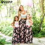 Mother and Daughter Boho Style Summer Dresses