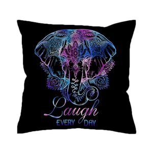 Laugh Every Day Boho Pillow