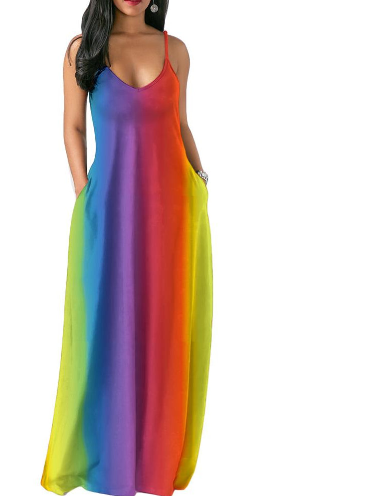 Tie Dye Rainbow Summer Dress