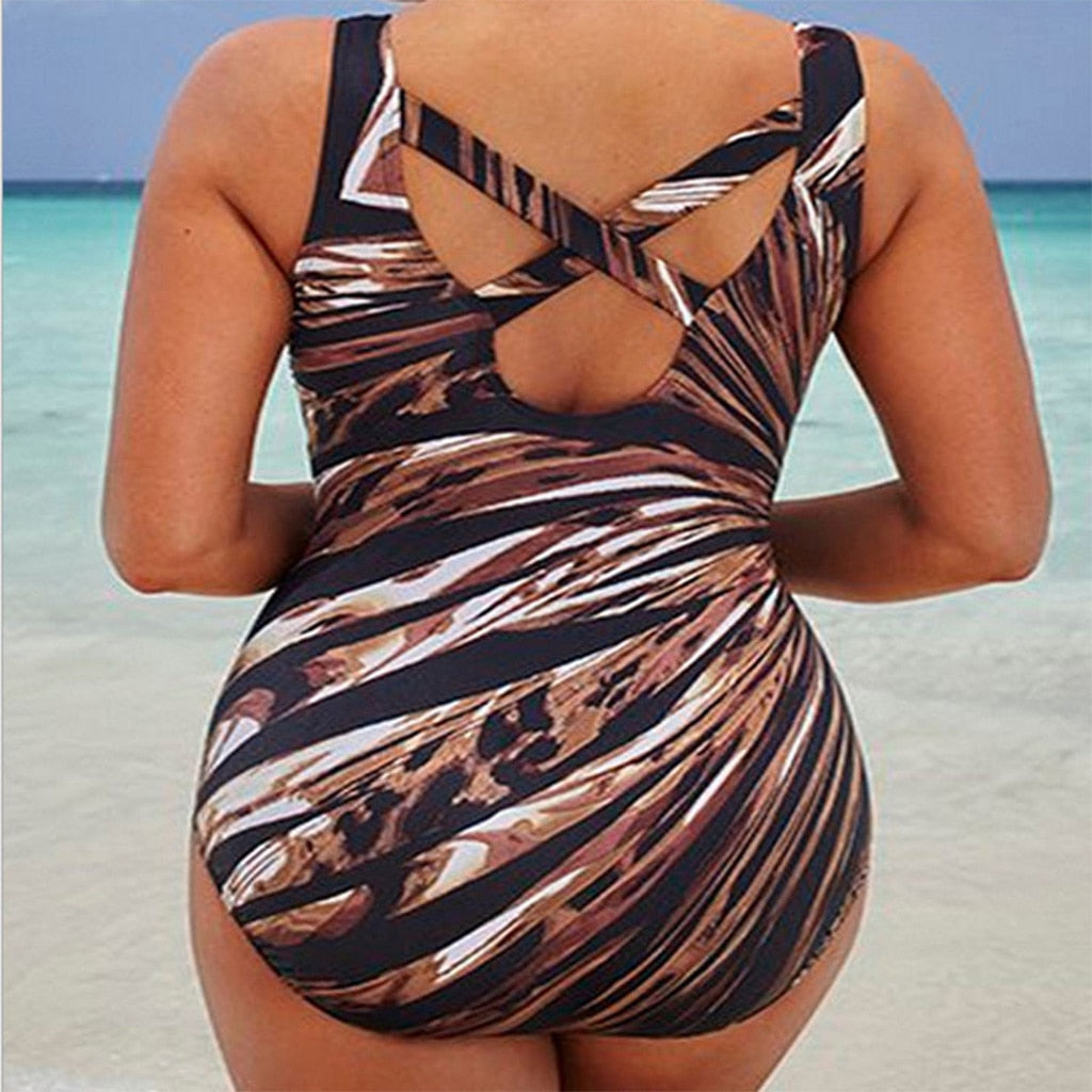 Bodied Boho Rainbow Striped Bathing Suit