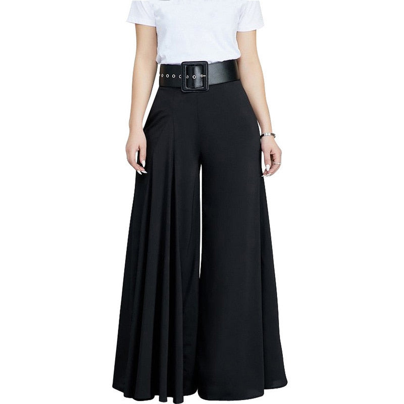 High Waist Pleated Palazzo Pants