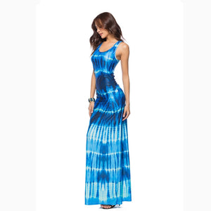 Tie Dye Maxi Summer Dress
