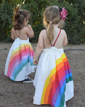 Baby Boho Rainbow Dress | Toddler Sundress