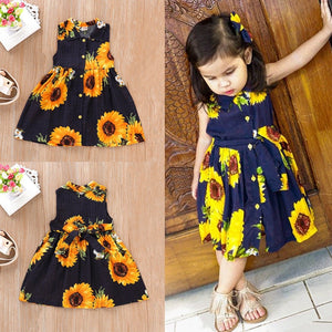 Boho Kids Sunflower Princess Dress - 18M - 6Y