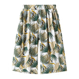 Girls Leaf Print Flare Pants