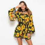 Boho Sunflower Summer Dress