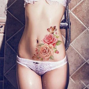 Rose Waterproof Temporary Tattoos