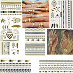 6 Pcs Metallic Temporary Tattoo