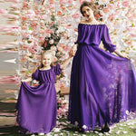 Mother Daughter Bohemian Solid Color Dress