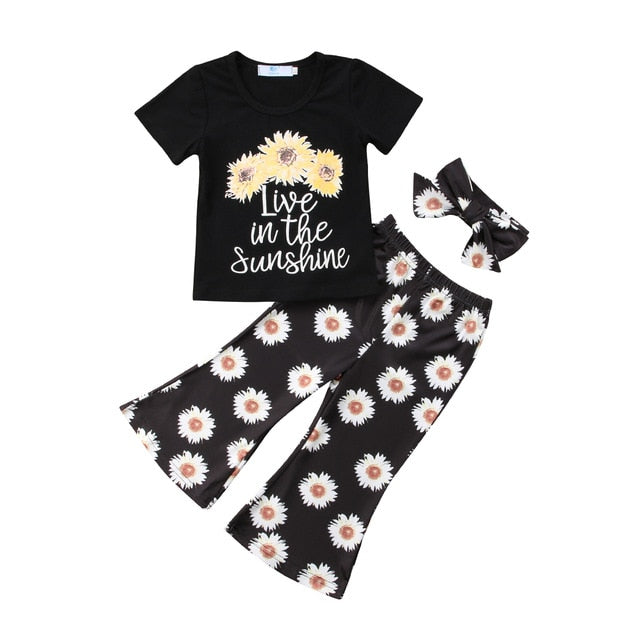 Toddler Sunflower Print Outfit