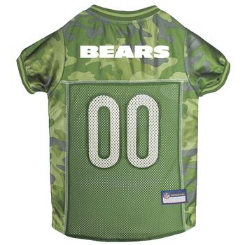 Chicago Bears Officially Licensed Camo Dog Jersey