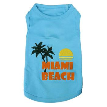 Miami Beach Blue Dog Tank