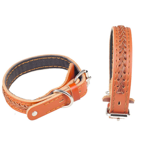 Braided Leather Ridgeback Dog Collar