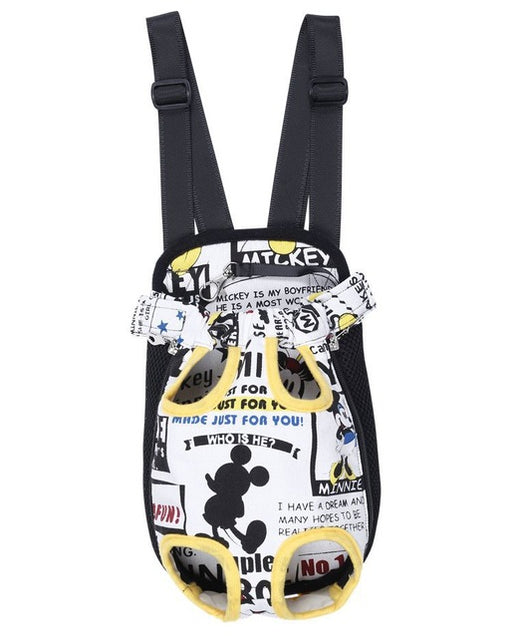 'Lets Hang Out' Printed Hanging Dog Backpack