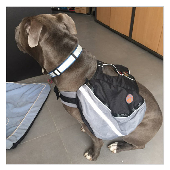 Reflective Two-Tone Double Carrier Dog Backpack