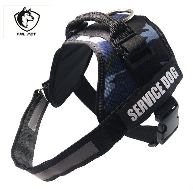 Reflective Service Dog Vest Harness