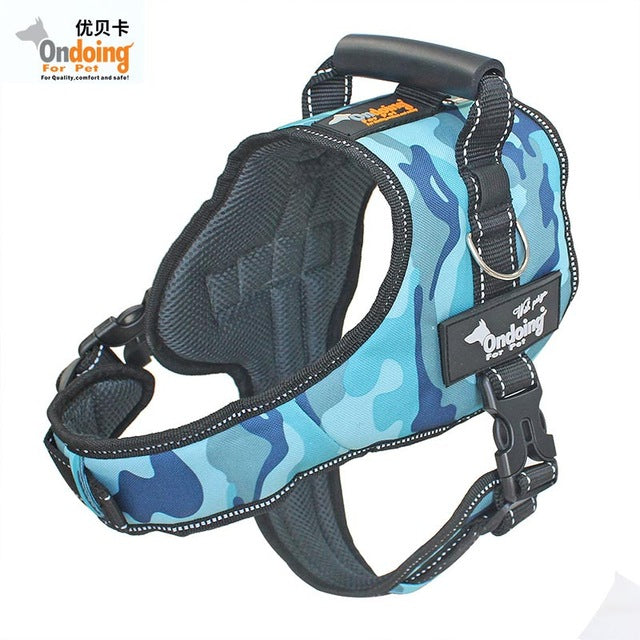 Heavy Duty Camo Training Harness with Leash