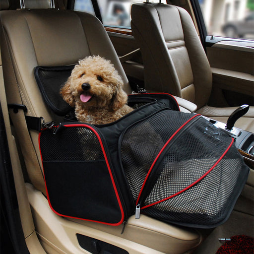 Toy & Small Dog Carrier Car Travel Pull-Out Bag