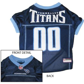 Tennessee Titans Officially Licensed Dog Jersey - Titian Blue Trim