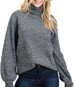 Jenny Turtle Neck (Charcoal)