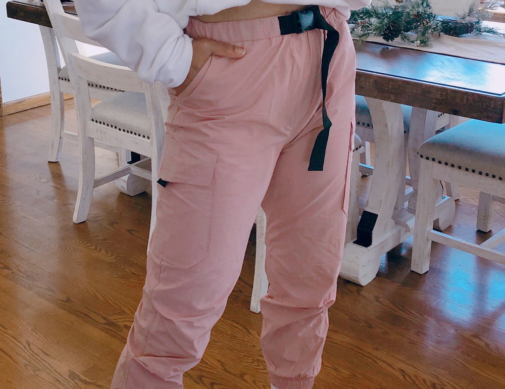 Strapped Up in Blush Windbreakers - Cinnamon Lifestyle