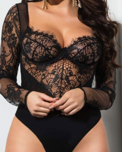 Athena Bodysuit [Black]