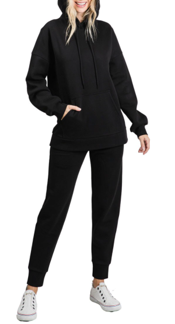 Load image into Gallery viewer, Comfy City Hoodie {Black}