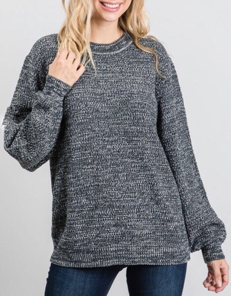 Sara Sweater (Charcoal)