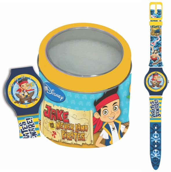 WALT DISNEY KID WATCH Mod. JAKE THE PIRATE - Tin box