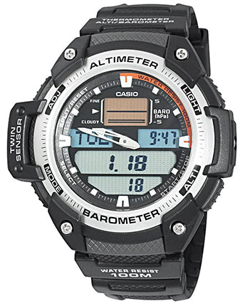 CASIO COLLECTION SPORT TWIN SENSOR ALTIMETER BAROMETER