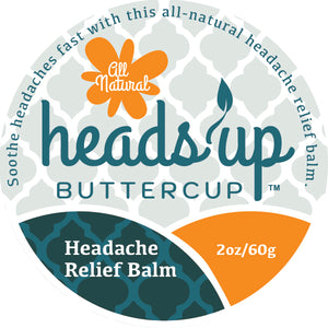 Heads Up Buttercup™ Headache Relief Balm