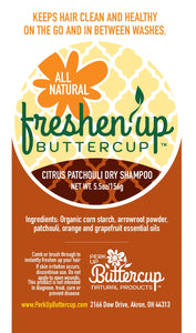 Freshen Up Buttercup™Citrus Patchouli Dry Shampoo Powder