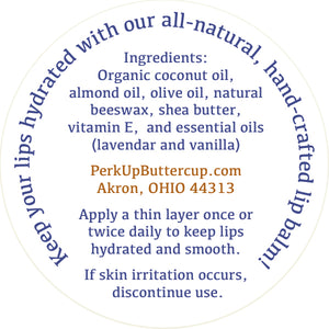 Pucker Up Buttercup™ Lavender & Vanilla Lip Balm