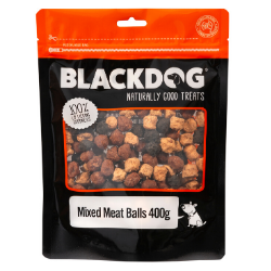 Blackdog Mixed Meat Balls Roo/Chick/Beef - 400g - doggiebox Australia