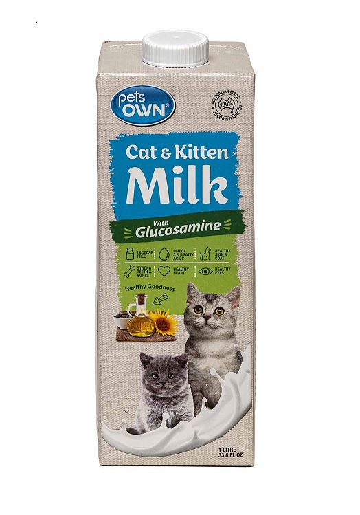 Pets Own Cat and Dog Milk 1litre x 8pk - doggiebox Australia