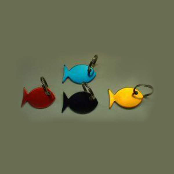 Fish shape - Anodised Aluminium (30mm) - doggiebox Australia