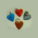 Heart Shape - Anodised Aluminium (28mm)