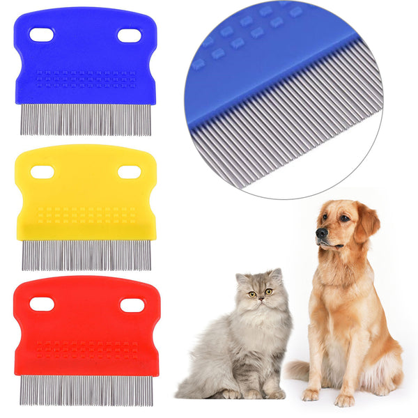 Random Color 1Pcs Stainless Steel Tooth Tear Stain Remover Dog Comb - doggiebox Australia