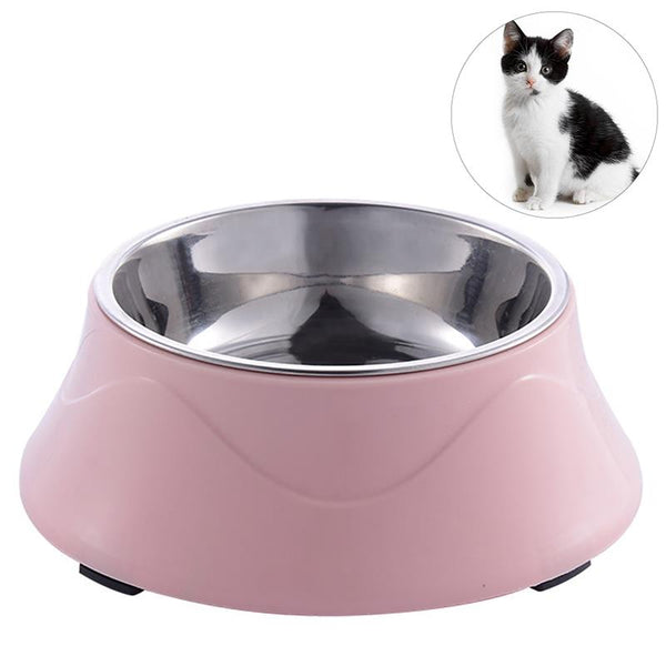 Non-slip Base Stainless Steel Color Spray Paint Puppy Cat Dog Bowls Feeder - doggiebox Australia