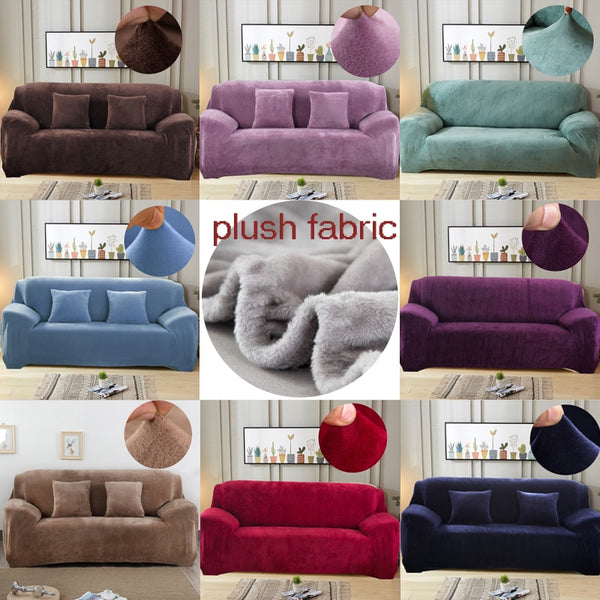 Plush elastic thick velvet dust-proof pets slipcovers,sofa,couch cover for living room - doggiebox Australia