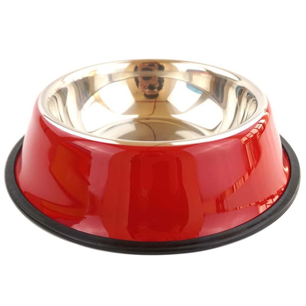 6 Colors Stainless Steel Anti Skid Feeding bowl For Dog Cat Puppy - doggiebox Australia