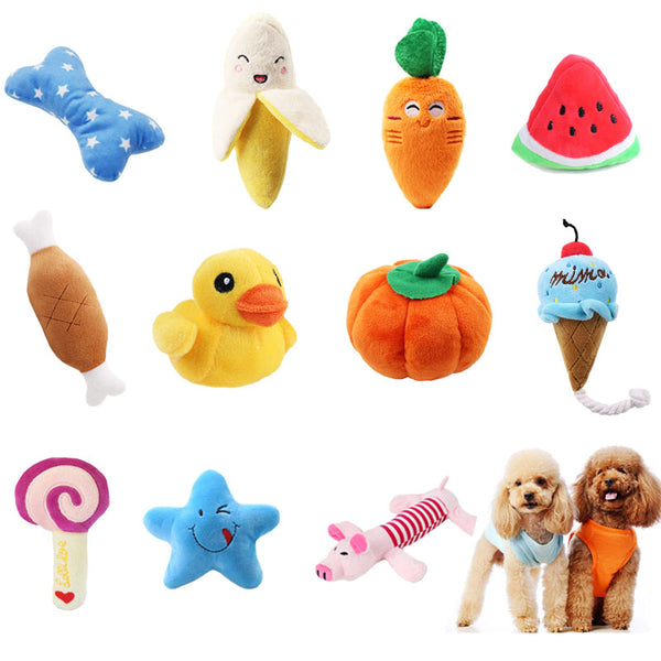 Pawstrip 1pc Squeaky Bone Ice Cream Carrot Puppy Interactive Sound Toy for Dog Cat Chew - doggiebox Australia