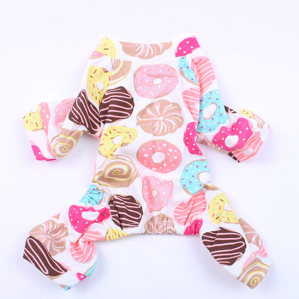 Floral JumpSuit Pajamas Shirts Nightshirt Pants For Dogs Cats Puppy - doggiebox Australia