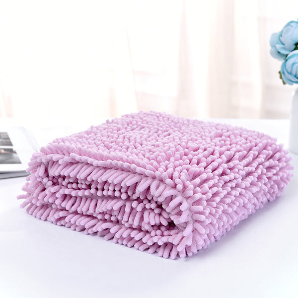 Chenille fiber Ultra-absorbent Dog Bath Towel Pet Drying blanket - doggiebox Australia