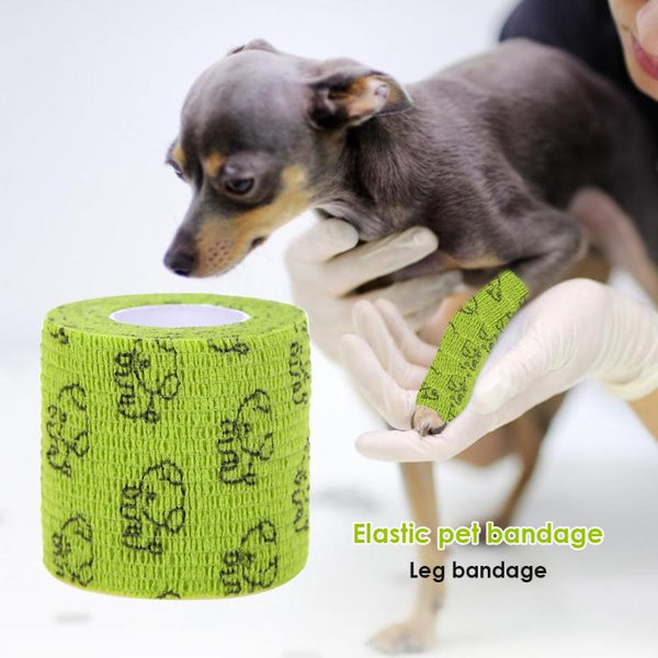 Self-adhesive Elastic Bandage Leg Cover Protector Strap for Pet Dog Cat - doggiebox Australia