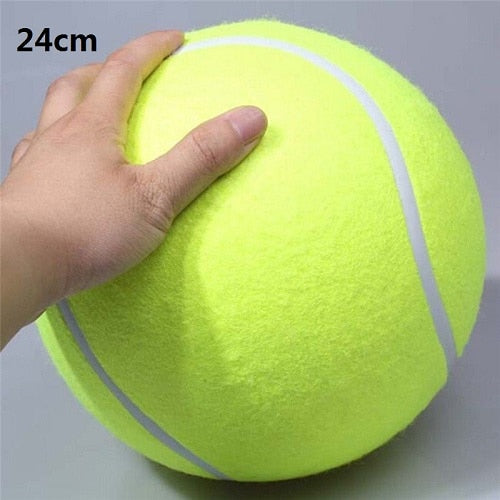 24CM Giant Interactive Tennis cricket Ball For Pet Dog Chew - doggiebox Australia